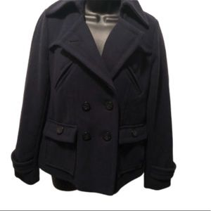 Double Breasted Pea Coat by AEO Size S Navy